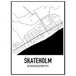 Skateholm Karta Poster