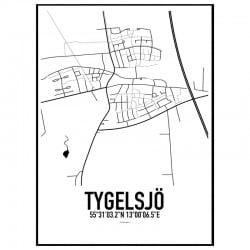 Tygelsjö Karta Poster