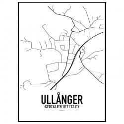 Ullånger Karta Poster