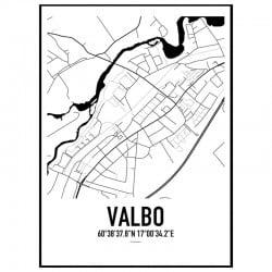Valbo Karta Poster