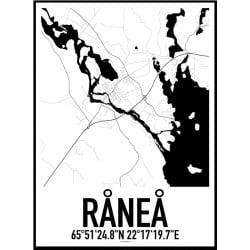Råneå 2 Karta Poster