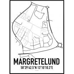 Margretelund Karta Poster