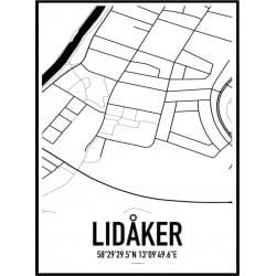 Lidåker Karta Poster