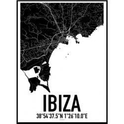 Ibiza Karta Poster