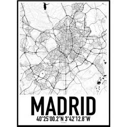 Madrid Karta Poster