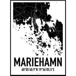Mariehamn Karta Poster