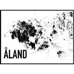 Åland Karta Poster