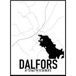 Dalfors Karta Poster