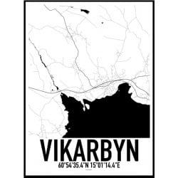 Vikarbyn Karta Poster