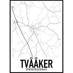 Tvååker Karta Poster