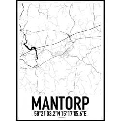 Mantorp Karta Poster