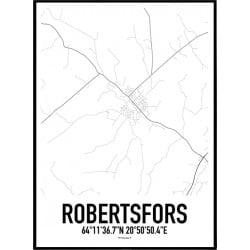 Robertsfors Karta Poster