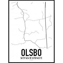 Olsbo Karta Poster