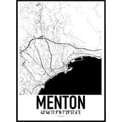 Menton Karta Poster