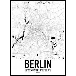 Karta Berlin Poster
