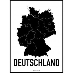 Tyskland Karta Poster