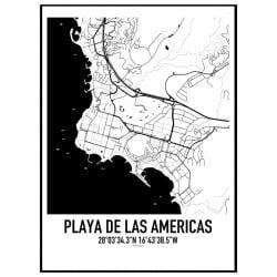 Playa de las Americas Karta