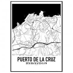 Puerto de la Cruz Karta