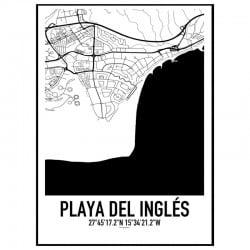 Playa Del Ingles Karta