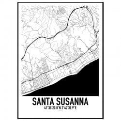 Santa Susanna Karta
