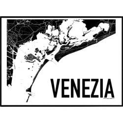 Karta Venedig Poster