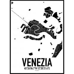 Venedig Karta Poster