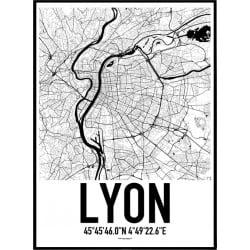 Lyon Karta Poster