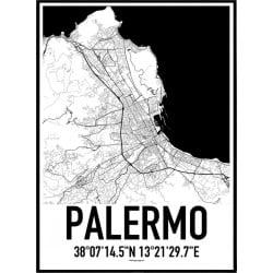 Palermo Karta Poster