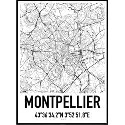 Montpellier Karta