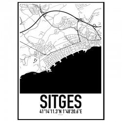 Sitges Karta