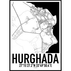 Hurghada Karta Poster