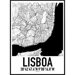 Lissabon Karta Poster