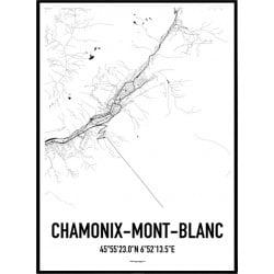 Chamonix Karta Poster