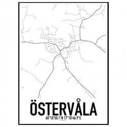 Östervåla Karta