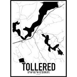 Tollered Karta Poster