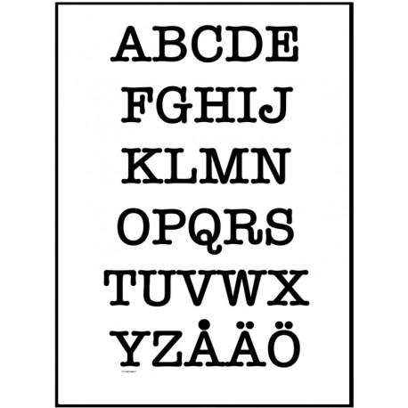 Alfabetet AT Poster