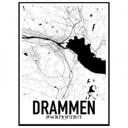 Drammen Karta