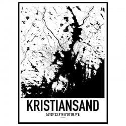 Kristiansand Karta