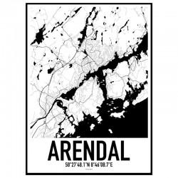 Arendal Karta