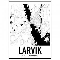 Larvik Karta