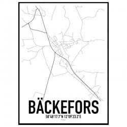 Bäckefors Karta