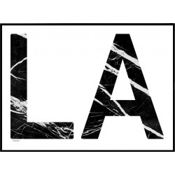 LA Marble Poster