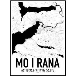 Mo I Rana Karta Poster