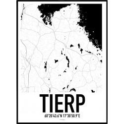Tierp Karta Poster