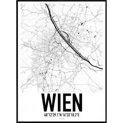 Wien Karta Poster