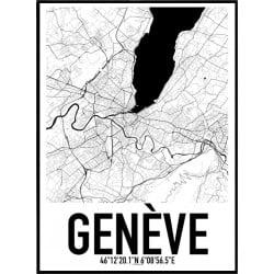 Genève Karta Poster