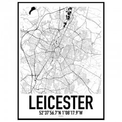 Leicester Karta