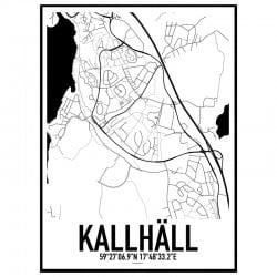 Kallhäll Karta