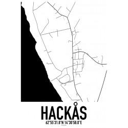 Hackås Karta