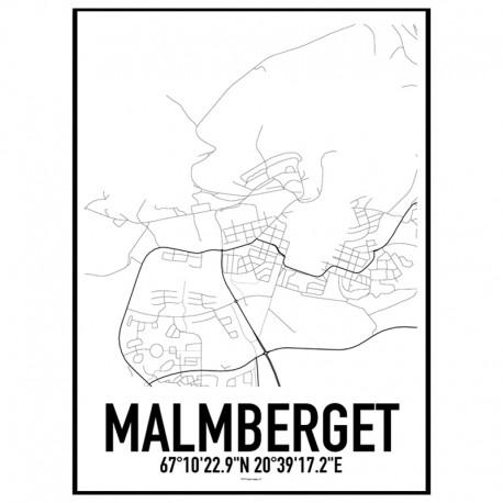 Malmberget Karta